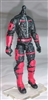 "MTF Male Trooper Body WITHOUT Head BLACK with RED ""Command-Ops"" Version BASIC - 1:18 Scale Marauder Task Force Action Figure"