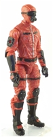 "MTF Male Trooper with Masked Goggles & Breather Head RED ""Command-Ops"" Version BASIC - 1:18 Scale Marauder Task Force Action Figure"