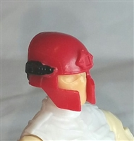 "Headgear: Tactical Helmet RED Version - 1:18 Scale Modular MTF Accessory for 3-3/4"" Action Figures"