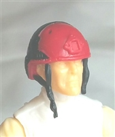 "Headgear: Half-Shell Helmet RED Version - 1:18 Scale Modular MTF Accessory for 3-3/4"" Action Figures"