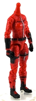 "MTF Female Valkyries Body WITHOUT Head RED with BLACK ""Command-Ops"" Version BASIC - 1:18 Scale Marauder Task Force Action Figure"
