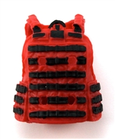 "Female Vest: Utility Type Red Version - 1:18 Scale Modular MTF Valkyries Accessory for 3-3/4"" Action Figures"