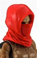 "Headgear: Hood RED Version - 1:18 Scale Modular MTF Accessory for 3-3/4"" Action Figures"