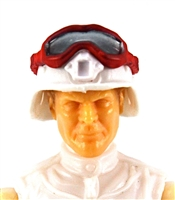 "Headgear: Large Goggles RED Version with SMOKE Tint - 1:18 Scale Modular MTF Accessory for 3-3/4"" Action Figures"