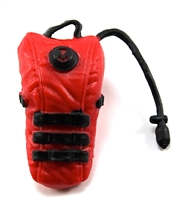 "Camel Hydration Pack: RED Version - 1:18 Scale Modular MTF Accessory for 3-3/4"" Action Figures"
