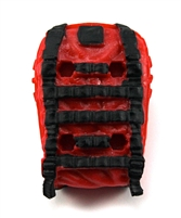"Backpack: Modular Backpack RED & BLACK Version - 1:18 Scale Modular MTF Accessory for 3-3/4"" Action Figures"