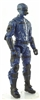 "MTF Male Trooper with Masked Goggles & Breather Head BLUE ""Security-Ops"" Version BASIC - 1:18 Scale Marauder Task Force Action Figure"