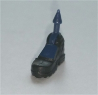 "Male Footwear: Right Black Boot with Blue Armor - 1:18 Scale MTF Accessory for 3-3/4"" Action Figures"