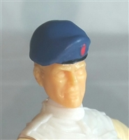 "Headgear: Beret BLUE Version - 1:18 Scale Modular MTF Accessory for 3-3/4"" Action Figures"