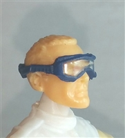 "Headgear: Standard Goggles with Strap BLUE Version - 1:18 Scale Modular MTF Accessory for 3-3/4"" Action Figures"