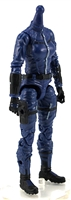 "MTF Female Valkyries Body WITHOUT Head BLUE with BLACK ""Security-Ops"" Version BASIC - 1:18 Scale Marauder Task Force Action Figure"