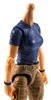 MTF Female Valkyries T-Shirt Torso ONLY (NO WAIST/LEGS): BLUE & BLUE Version with LIGHT Skin Tone - 1:18 Scale Marauder Task Force Accessory
