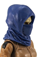 "Headgear: Hood BLUE Version - 1:18 Scale Modular MTF Accessory for 3-3/4"" Action Figures"
