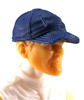 "Headgear: Baseball Cap BLUE Version - 1:18 Scale Modular MTF Accessory for 3-3/4"" Action Figures"
