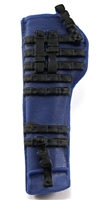 "Rifle Sheath Backpack: BLUE & BLACK Version - 1:18 Scale Modular MTF Accessory for 3-3/4"" Action Figures"