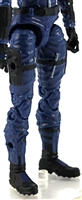 "Female Legs WITH Waist: BLUE Legs  - Right AND Left Legs WITH Waist - 1:18 Scale MTF Valkyries Accessory for 3-3/4"" Action Figures"
