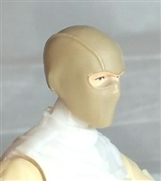 "Male Head: Balaclava Mask TAN Version - 1:18 Scale MTF Accessory for 3-3/4"" Action Figures"