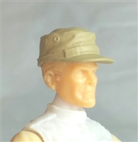 "Headgear: Fatigue Cap TAN Version - 1:18 Scale Modular MTF Accessory for 3-3/4"" Action Figures"