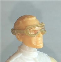 "Headgear: Standard Goggles with Strap TAN Version - 1:18 Scale Modular MTF Accessory for 3-3/4"" Action Figures"
