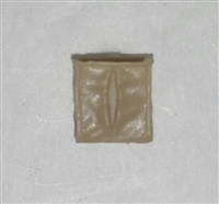 "Ammo Pouch: Empty TAN Version - 1:18 Scale Modular MTF Accessory for 3-3/4"" Action Figures"