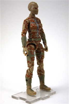 "MTF Female Valkyries with Balaclava Head TAN Camo ""Desert-Ops"" Version BASIC - 1:18 Scale Marauder Task Force Action Figure"