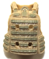 "Female Vest: Utility Type Tan & Tan Version - 1:18 Scale Modular MTF Valkyries Accessory for 3-3/4"" Action Figures"