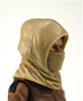 "Headgear: Hood TAN Version - 1:18 Scale Modular MTF Accessory for 3-3/4"" Action Figures"