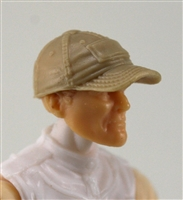 "Headgear: Baseball Cap TAN Version - 1:18 Scale Modular MTF Accessory for 3-3/4"" Action Figures"