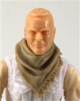 "Headgear: Large Neck Scarf ""Shemagh"" TAN Version - 1:18 Scale Modular MTF Accessory for 3-3/4"" Action Figures"