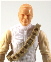 "Bandolier: TAN Version - 1:18 Scale Modular MTF Accessory for 3-3/4"" Action Figures"