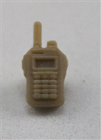 Radio Walkie Talkie: TAN Version - 1:18 Scale MTF Accessory for 3 3/4 Inch Action Figures