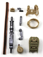Steady-Cam Gun Gun-Metal DELUXE Set: Tan & Tan Version - 1:18 Scale Weapon Set for 3 3/4 Inch Action Figures