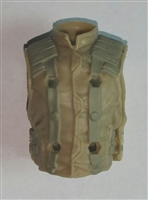 "Male Vest: Model 86 Type TAN & TAN Version - 1:18 Scale Modular MTF Accessory for 3-3/4"" Action Figures"