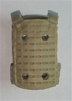 "Male Vest: Plate Carrier Type TAN Version - 1:18 Scale Modular MTF Accessory for 3-3/4"" Action Figures"