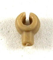 """C-Clip"" Universal Modular Mounting Peg: Tan Version - 1:18 Scale MTF Accessory for 3 3/4 Inch Action Figures"