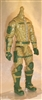 "MTF Male Trooper Body WITHOUT Head DARK TAN with Green ""Assault-Ops"" Version BASIC - 1:18 Scale Marauder Task Force Action Figure"