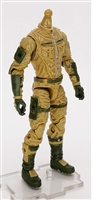 "MTF Male Trooper Body WITHOUT Head DARK TAN with Green ""Assault-Ops"" CLOTH Legs (No Leg Armor) - 1:18 Scale Marauder Task Force Action Figure"