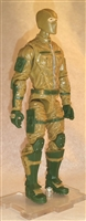 "MTF Male Trooper with Balaclava Head DARK TAN & Green ""Assault-Ops"" Version BASIC - 1:18 Scale Marauder Task Force Action Figure"