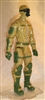 "MTF Male Trooper with Masked Goggles & Breather Head DARK TAN & Green ""Assault-Ops"" Version BASIC - 1:18 Scale Marauder Task Force Action Figure"