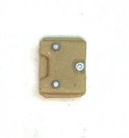"Armor Panel: Small Size DARK TAN Version - 1:18 Scale Modular MTF Accessory for 3-3/4"" Action Figures"