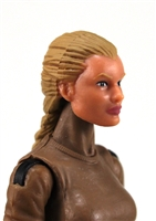 "Female Head: ""Athena"" Light Skin Tone with Light Brown French Braid - 1:18 Scale MTF Valkyries Accessory for 3-3/4"" Action Figures"