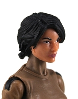 "Female Head: ""Athena""  Light Skin Tone with Black Long Hair - 1:18 Scale MTF Valkyries Accessory for 3-3/4"" Action Figures"