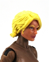 "Female Head:  ""Athena"" Light Skin Tone with Blonde Long Hair - 1:18 Scale MTF Valkyries Accessory for 3-3/4"" Action Figures"