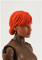 "Female Head:  ""Athena"" Light Skin Tone with Red Short Hair - 1:18 Scale MTF Valkyries Accessory for 3-3/4"" Action Figures"