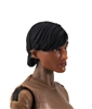 "Female Head: ""Hera"" Tan Skin Tone with Black Short Hair - 1:18 Scale MTF Valkyries Accessory for 3-3/4"" Action Figures"