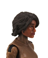 "Female Head: ""Hera"" Tan Skin Tone with Brown Long Hair - 1:18 Scale MTF Valkyries Accessory for 3-3/4"" Action Figures"