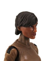 "Female Head: ""Hera"" Tan Skin Tone with Brown Short Hair - 1:18 Scale MTF Valkyries Accessory for 3-3/4"" Action Figures"