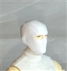 "Male Head: Balaclava Mask WHITE Version - 1:18 Scale MTF Accessory for 3-3/4"" Action Figures"