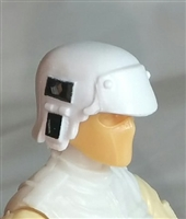 "Headgear: Armor Helmet WHITE Version - 1:18 Scale Modular MTF Accessory for 3-3/4"" Action Figures"