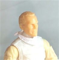 "Headgear: Standard Neck Scarf WHITE Version - 1:18 Scale Modular MTF Accessory for 3-3/4"" Action Figures"